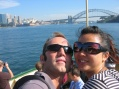 Me and Tomoko on the Malny ferry in Sydney